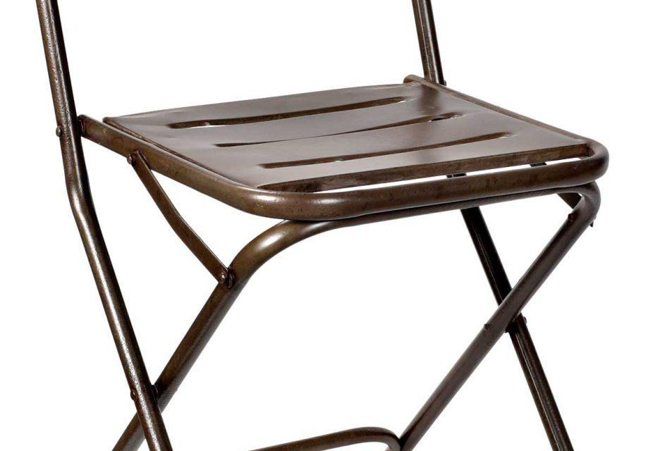 Trademark Living gammel klapstol i flot mørk olivengrøn jern