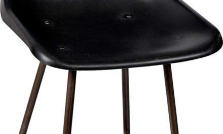 TRADEMARK LIVING Spisebordsstol – jernstel med plastiksæde