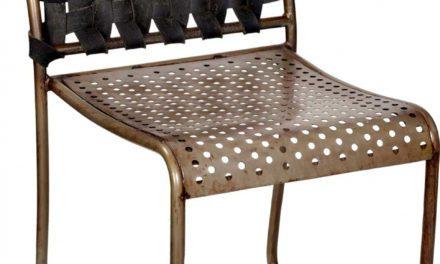TRADEMARK LIVING spisebordstol – jern og gummi