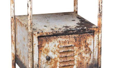 TRADEMARK LIVING Råt og gammelt hospitalskabinet – cream og jern