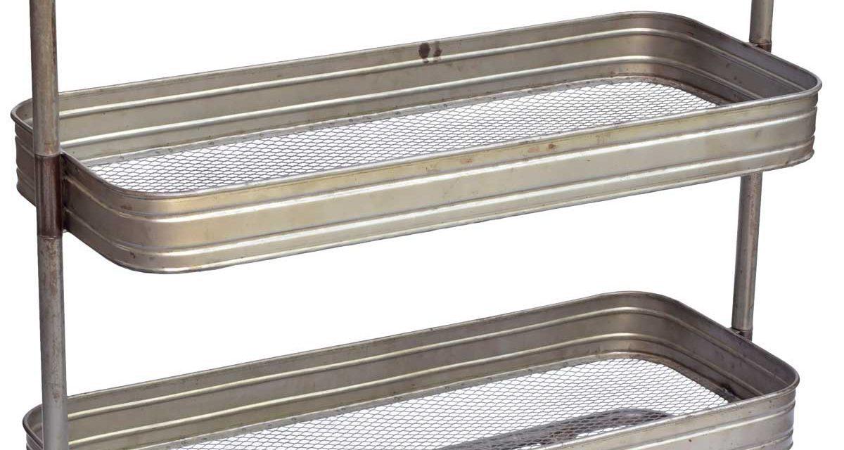 TRADEMARK LIVING Rullebord – jern med klar lak
