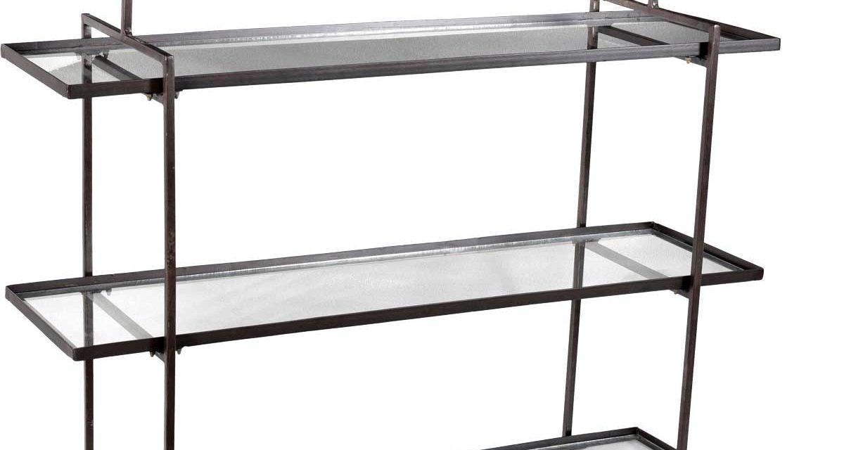 TRADEMARK LIVING Svævereol i et cool design – jern og glas
