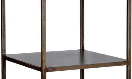 TRADEMARK LIVING Enkel høj reol med et modernt udtryk – jern og 6 hylder