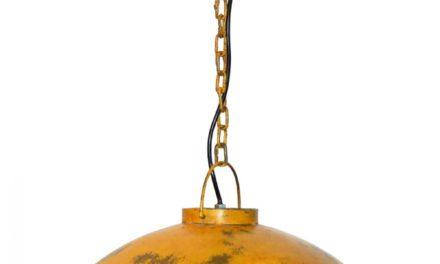 TRADEMARK LIVING Loftpendel i fabriksstil – gul