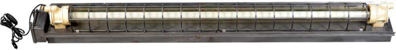 TRADEMARK LIVING Industrilampe med lysstofrør – original gammel