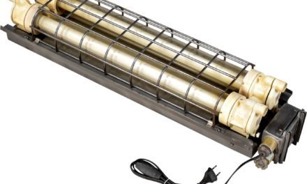 TRADEMARK LIVING Industrilampe med dobbelt lysstofrør – original gammel