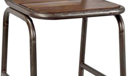 TRADEMARK LIVING spisebordsstol med træsæde og jernstel