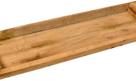 TRADEMARK LIVING Rustikt og stort aflangt træfad