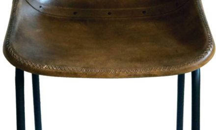 TRADEMARK LIVING – spisebordsstol m. læder, brun