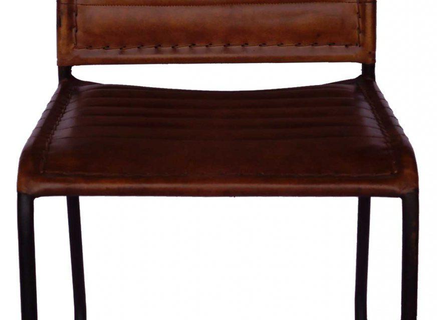 TRADEMARK LIVING Læder spisebordsstol – brun