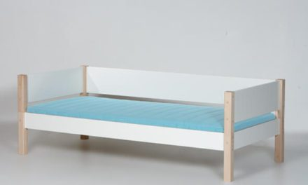 MANIS-H Tor børneseng – hvid/bøg (200×90)