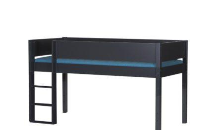 MANIS-H Frej halvhøj seng, antracitgrå (200×90)
