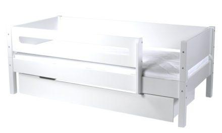 MANIS-H Max børneseng – m. skuffe og sengehest, hvid (160×90)