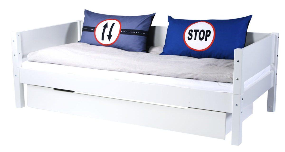 MANIS-H Rex børneseng m. skuffe og sengekant, hvid (200×90)