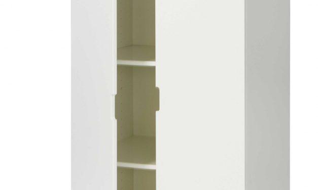 MANIS-H Garderobeskab – hvid m. bøjlestang og 2 hylder