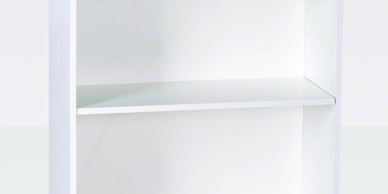 MANIS-H Reol – hvid kvadratisk, m. 1 hylde