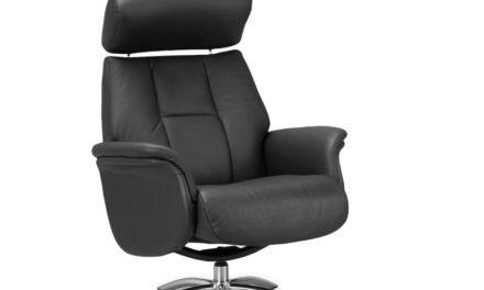 Firenze 1 lænestol – sort kunstlæder