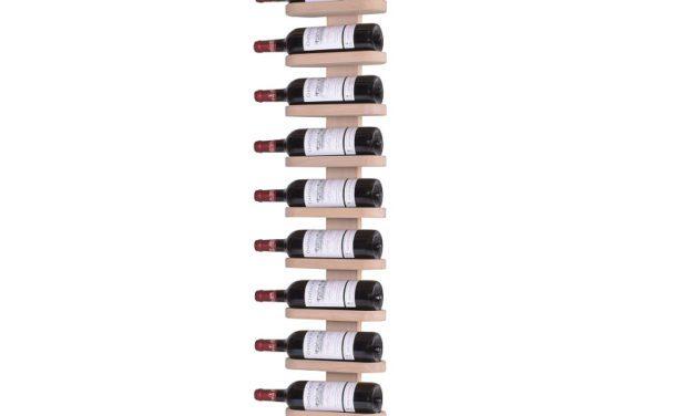 BY TIKA Milano no. 12 vinreol – røget/olieret egetræ, væghængt, plads til 12 flasker Hvidolieret eg