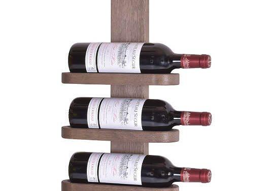 BY TIKA Milano no. 3 vinreol – Olieret egetræ, væghængt, plads til 3 flasker Lakeret eg