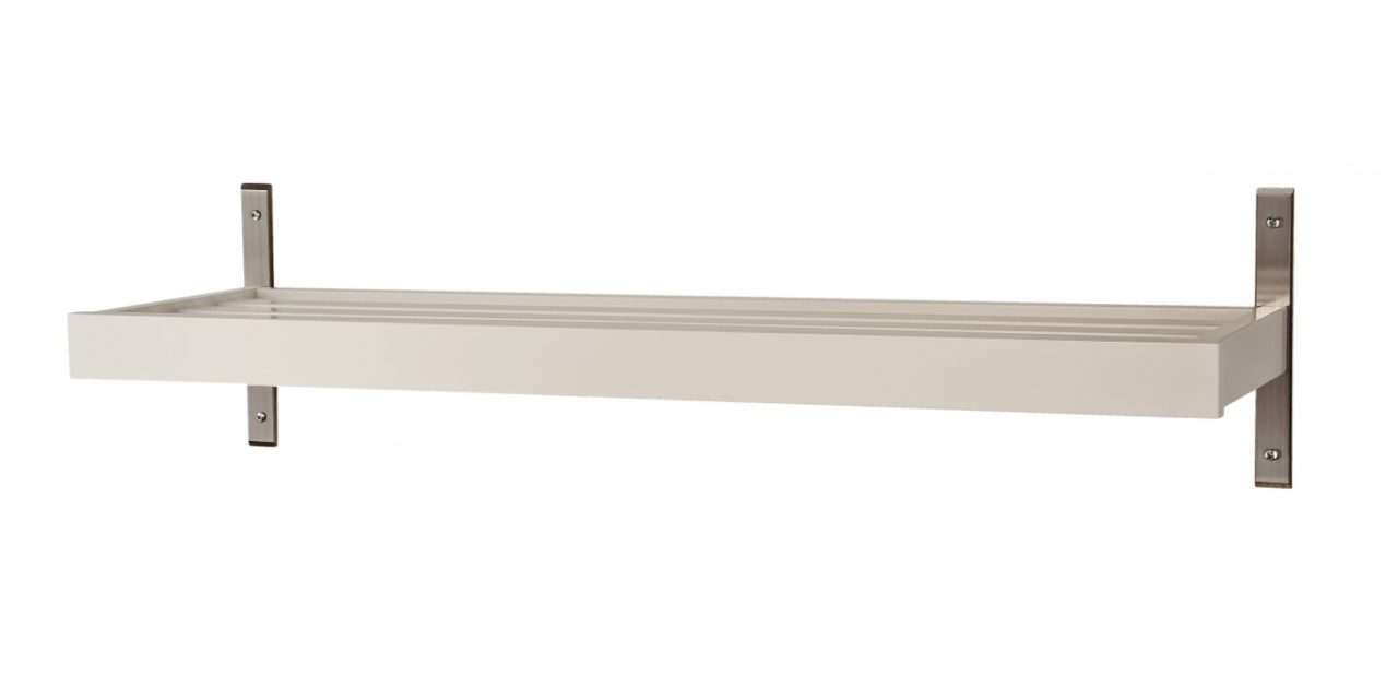 FURBO Nadja – skohylde, vægmodel, 50 cm. Hvid
