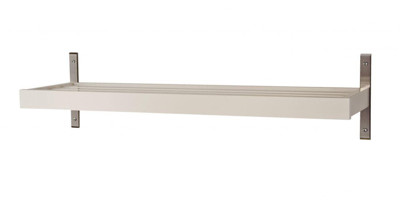 FURBO Nadja – skohylde, vægmodel, 60 cm. Hvid