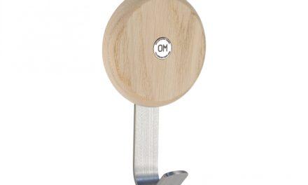 FURBO Ewo – krog i slebet stål og træ hvid lak – hvidpigmenteret eg