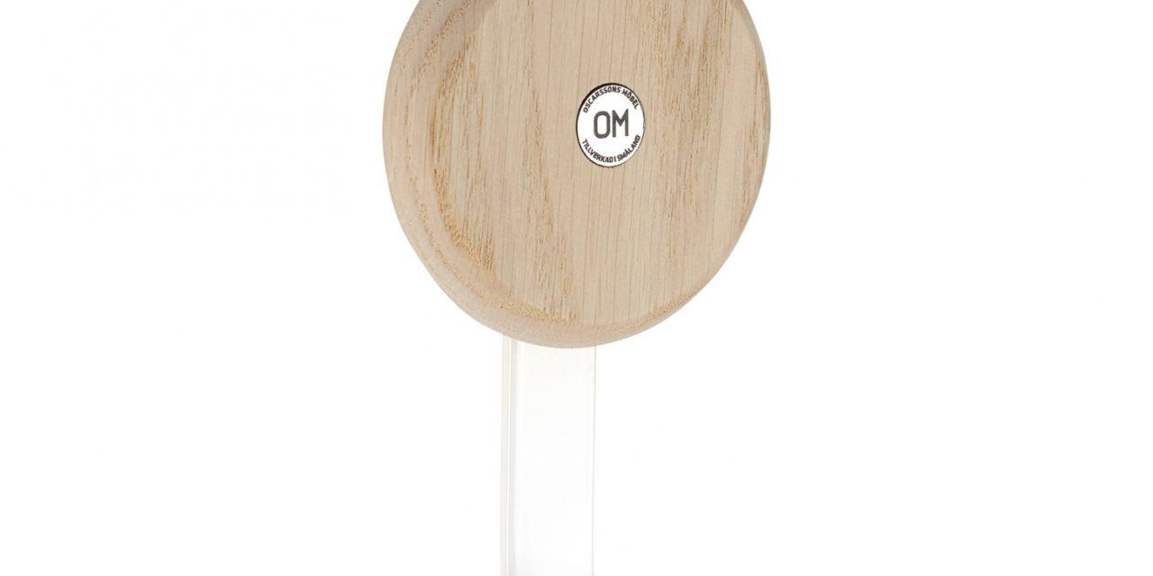 FURBO Ewo – krog i hvidt stål og træ Lakeret eg