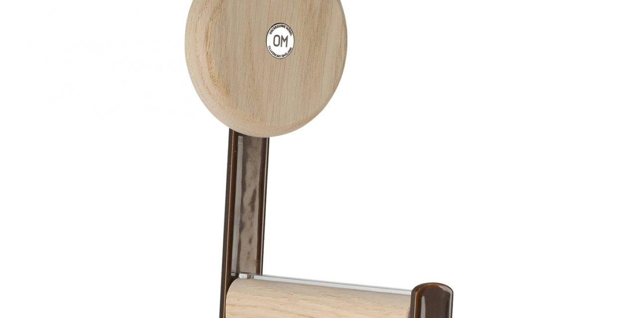 FURBO Ewo – knage i rustlook stål og træ hvid lak – hvidpigmenteret eg