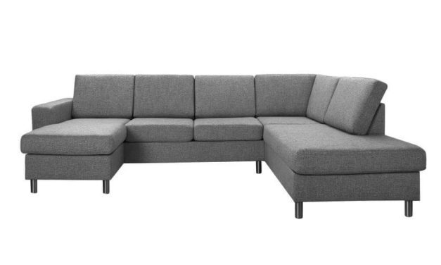 Pisa højrevendt U-sofa – antracitgrå stof