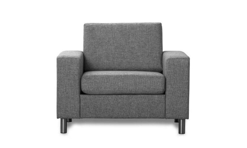 Pisa lænestol – antracitgrå stof