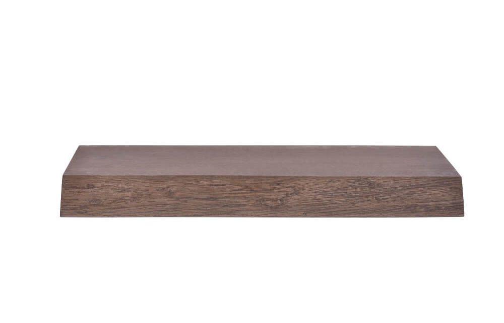 BY TIKA Halle svævende plankehylde – røget eg, m. bomkant 100 cm