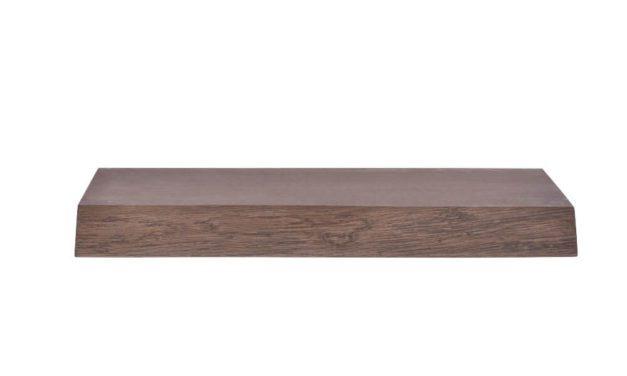 BY TIKA Halle svævende plankehylde – røget eg, m. bomkant 40 cm