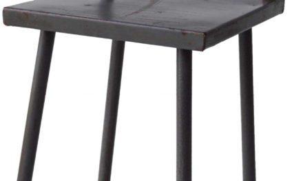 TRADEMARK LIVING Gammel jernstol – grå