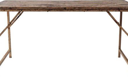 TRADEMARK LIVING Lækkert spisebord med træbordplade og jernstel