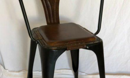 SJÄLSÖ NORDIC Spisebordsstol i jern og læder