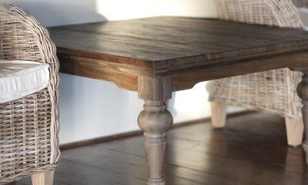 """NOVASOLO """"Hygge"""" firkantet sofabord teaktræ (100×100)"""