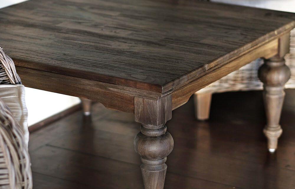 """NOVASOLO """"Hygge"""" firkantet sofabord teaktræ (70×120)"""