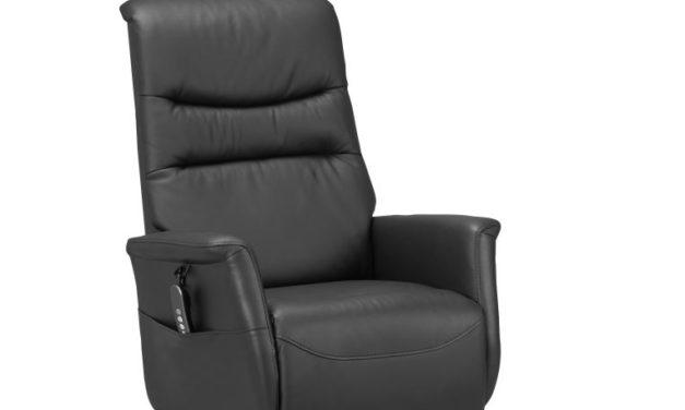 Thor reclinerstol – sort kunstlæder, løft- og resetfunktion (2 motorer)