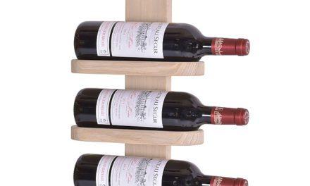 BY TIKA Milano no. 3 vinreol – Olieret egetræ, væghængt, plads til 3 flasker Hvidolieret eg