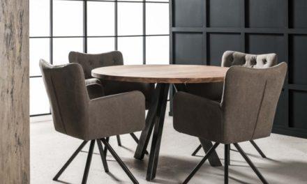 FURBO Spisebord ø 120 cm, massiv akacie træ