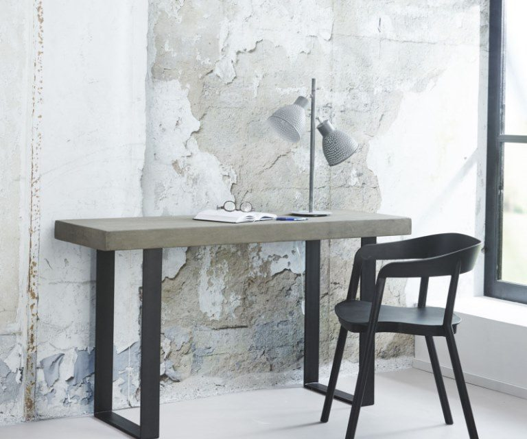 FURBO Konsolbord, beton look, 140 x 45 cm