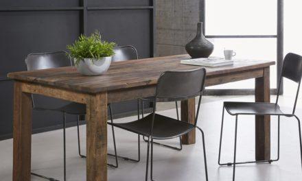 FURBO Spisebord, genbrugstræ, 90 x 180 cm