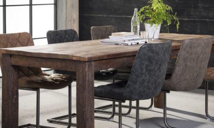 FURBO Spisebord, genbrugstræ, 90 x 220 cm