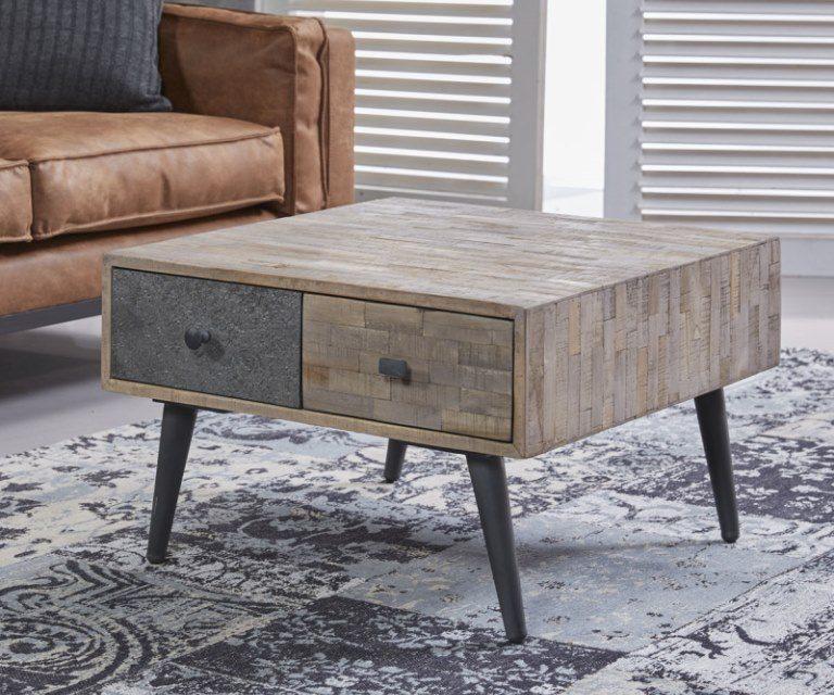 Fantastisk sofabord i patineret massiv teaktræ fra mærket Furbo