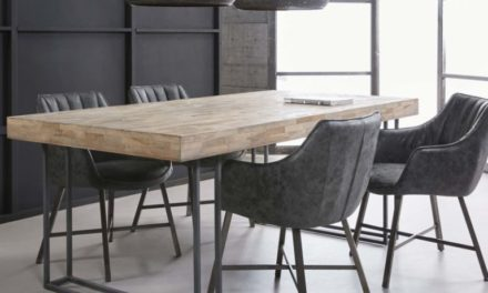 FURBO Spisebord, massiv patineret teak, 100 x 200 cm