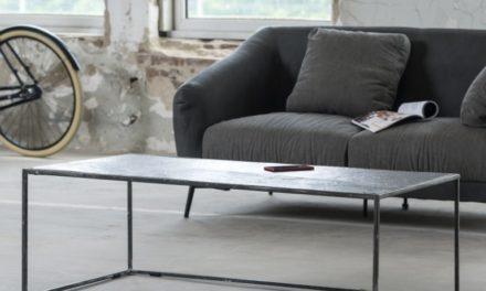 FURBO Sofabord, sort nikkel, sandblæst, 120 x 60 cm