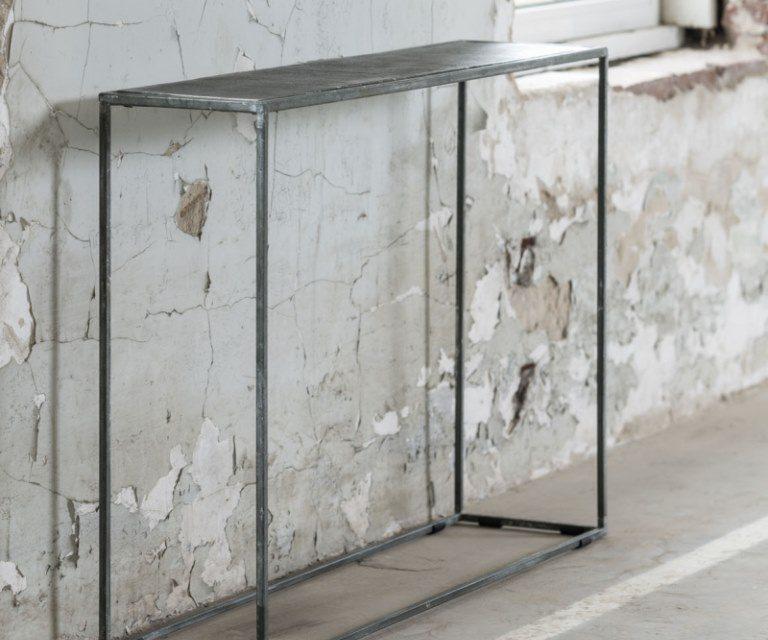 FURBO Konsolbord, sort nikkel, sandblæst, 110 x 25 cm