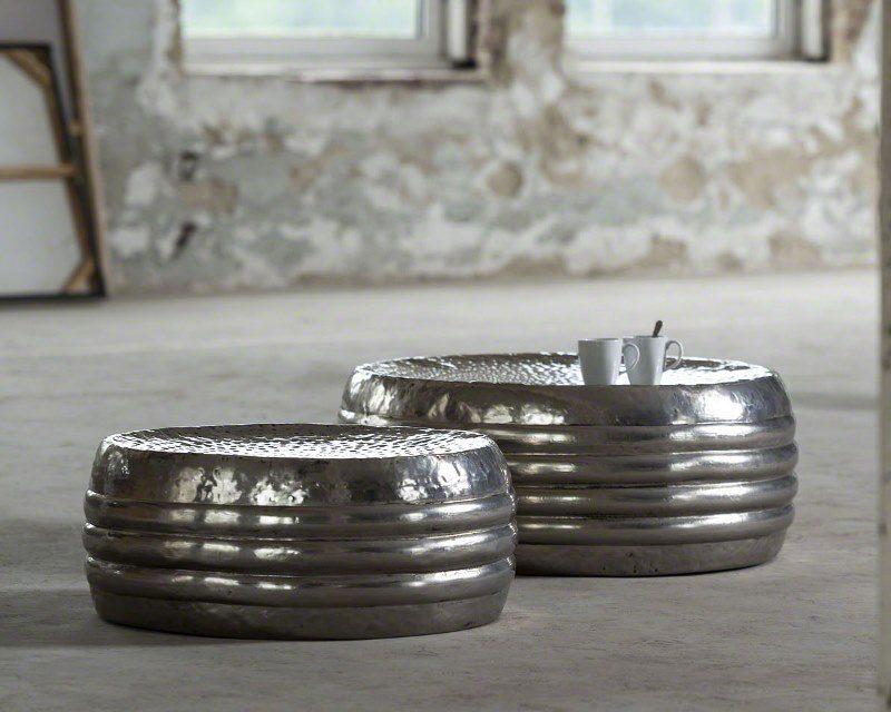 FURBO Sofabordssæt, hamret antik nikkel