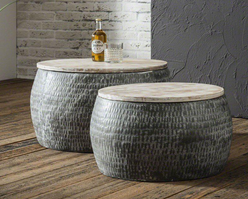 FURBO Sofabordssæt, metal og træ