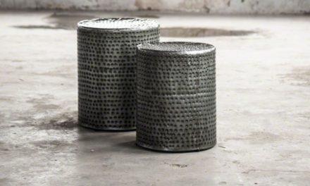 FURBO Sofabordssæt, hamret sort nikkel